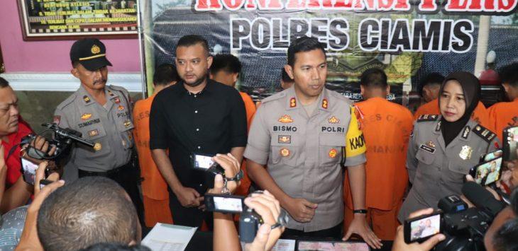 Para pelaku ganjal ATM yang diamankan Polres Ciamis (arf)