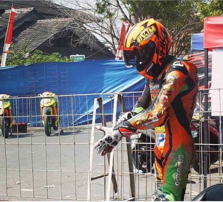 Pembalap asal Kota Cirebon Wahyu Raharjo