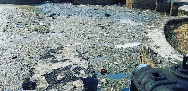 Pencemaran Sungai Cilamaya./Foto: Ega