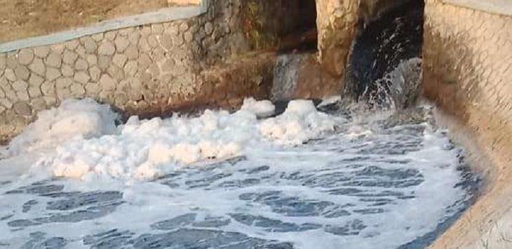 Pencemaran Sungai Cilamaya./Foto; Ega