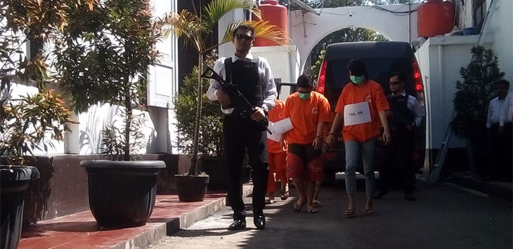 DP (23) warga kota Bandung ini harus merasakan dinginnya kamar jeruji besi.