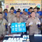Polres Karawang menangkap 18 pengedar narkoba (ega)