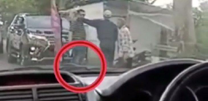 Video viral pria diduga intimidasi warga dengan senpi./Foto: Istimewa