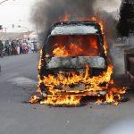 Angkot terbakar di Purwakarta