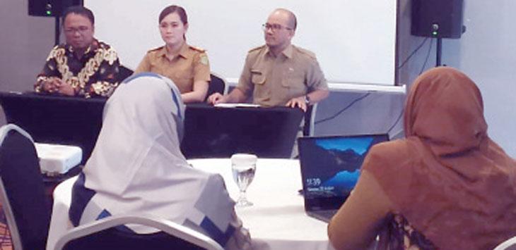 Dinas Kesehatan Kota Sukabumi saat melakukan mentoring tata laksana Diabetes melitus setiap Puskesmas di Salahsatu hotel di Kota Sukabumi, selasa (20/8/19).