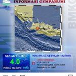 Gempa magnitudo 4 guncang Kabupaten Bogor (ist)
