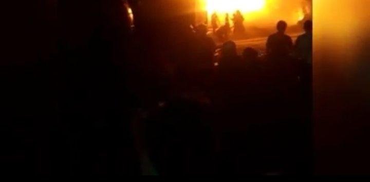 Kebakaran besar di Jalan Babakan Cibeureum Kota Bandung (ist)