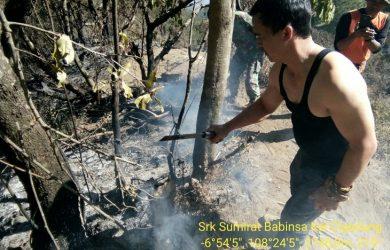 Kebakaran lahan di Gunung Ciremai Kuningan