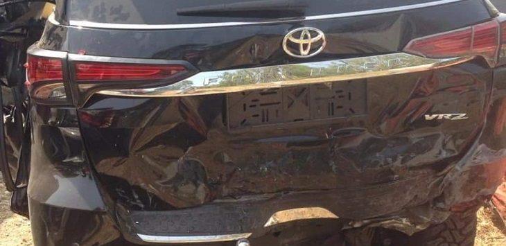 Kondisi kendaraan alami kecelakaan di KM 132 , Cimahi./Foto: Istimewa