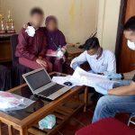 Kondisi Asep alias Rayya alias Kang Arya saat diperiksa personel Polres Garut (ist)