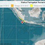 Lokasi Gempa Sumur Banten magnitudo 7,4 SR (ist)