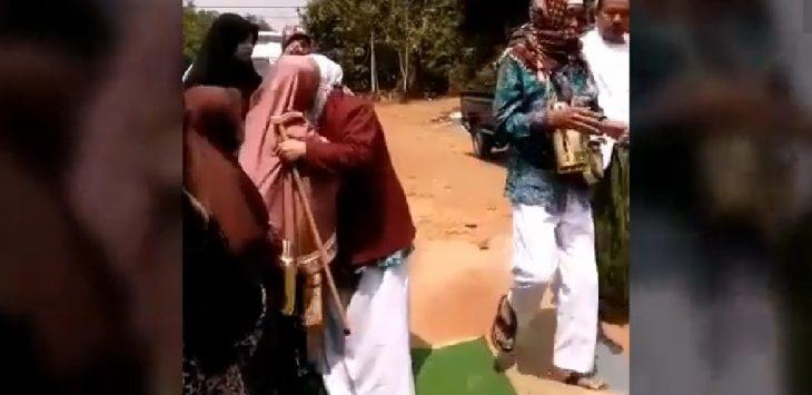 Pasangan jamaah haji asal Purwakarta./Foto: Ega