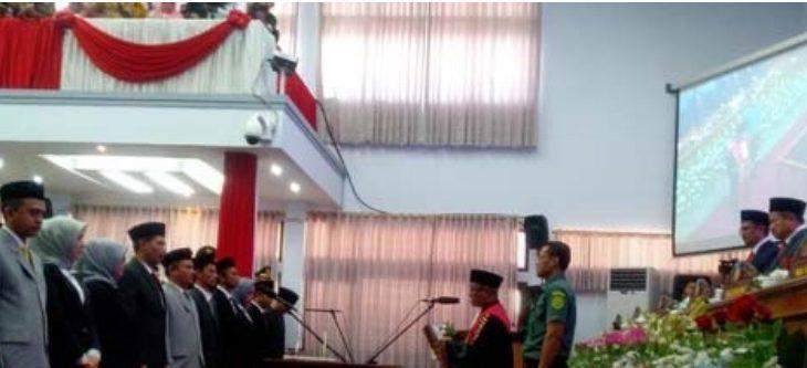Pelantikan DPRD Kabupaten Garut periode 2019-2024./Foto: Rmol
