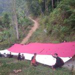 Pengibaran merah putih di Lereng Taman Watu Mila Kencana, Gunung Gede Pangrango (ist)