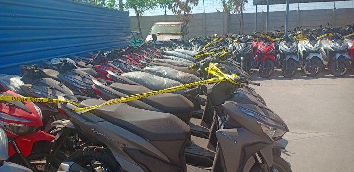 Polda Jabar ungkap penjualan sepeda motor di Jabar, Senin (26/8/2019)./Foto: Arief