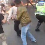 Polisi terbakar di Cianjur