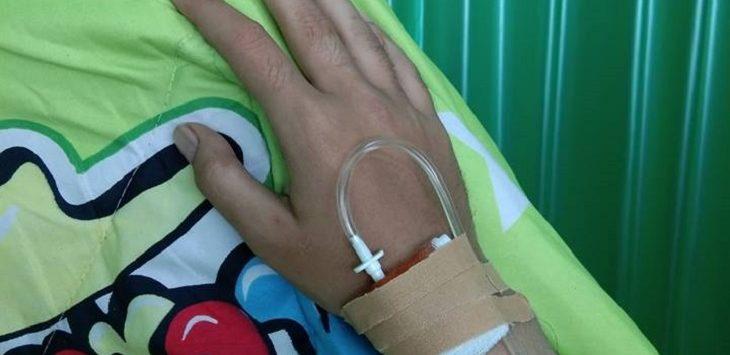 Postingan kondisi sakit pelaku video porno Vina Garut./Foto: Istimewa
