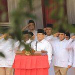 Prabowo peringati HUT RI ke 74 bersama kader dan pengurus Gerindra (ist)
