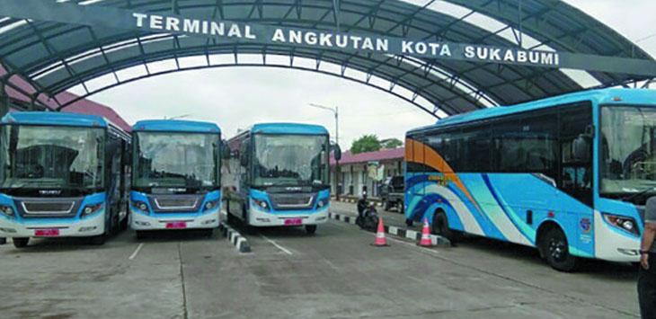 Sebanyak lima Bus Rapid Transit (BRT) milik Pemerintah Kota Sukabumi masih belum bisa beroperasi.