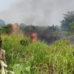 Suasana kebakaran di Cimahpar Bogor Utara (adi)