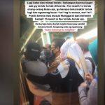 Suasana ketika penumpang KRL Bogor-Jakarta ada yang kesurupan (ist)