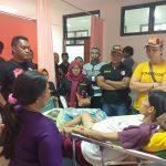 Sugandi saat dijenguk oleh Ormas PP Pancasila PAC Klari