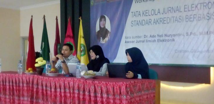 Tadris Matematika IAIN Syekh Nurjati Cirebon saat menggelar workshop. Ist/pojokjabar