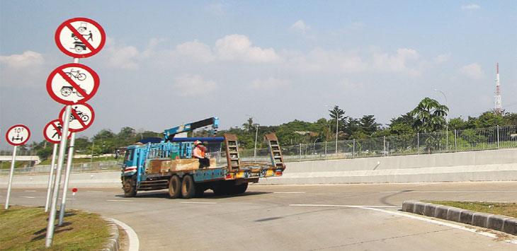 Suasana dekat pintu masuk Tol Kukusan I, Kelurahan Kukusan, Kecamatan Beji yang masih belum dibuka. Radar Depok