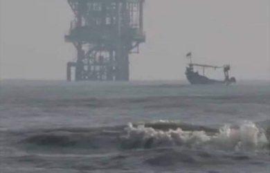 Tumpahan minyak yang menyebar di Laut Karawang (ist)