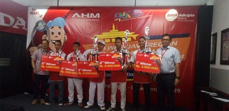Masngudin Harumkan Jawa Barat di Ajang Astra Honda Motor Technical Skill Contest 2019