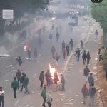 Bentrok mahasiswa dan polisi di Jakarta (ist)