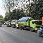 Berkeliaran di Luar Jam Operasional, Truk Tanah Dirazia Dishub Kota Bekasi