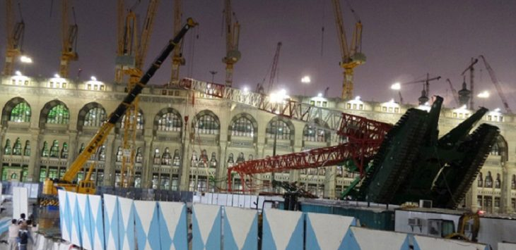 Crane di Masjidil Haram roboh./Foto: Istimewa
