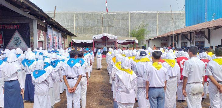 Upacara dalam rangka HUT PMI Kabupaten Cirebon yang ke-74. Ghofar/pojokjabar