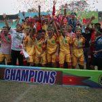 Tim Sepakbola PPLP Banyuasin Juara Kejurnas Sepakbola