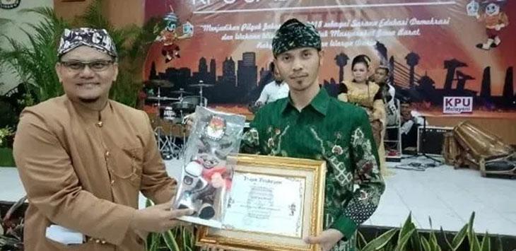 KPU Kota Sukabumi Sabet Dua Penghargaan