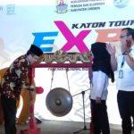 Secara simbolis Plt Bupati Cirebon membuka acara Katon Tourism Expo 2019. Kirno/pojokjabar