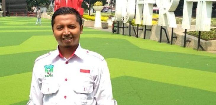 Ketua Kesatuan Aksi Mahasiswa Muslim Indonesia (KAMMI) Karawang, Ahmad Nopian./Foto: Ega