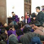 Mahasiswa Unpak berusaha merangsek masuk ke ruangan Walikota Bogor (adi)