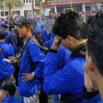 Mahasiswa dari Karawang ikut aksi di Jakarta