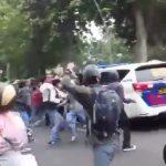 Mobil Polantas yang diserang pelajar di Jalan Juanda Kota Bogor (ist)