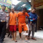 Oki bersama rekannya Agus yang ditangkap polisi (arf)