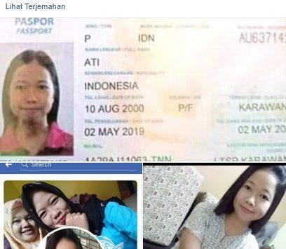 Postingan soal pekerja Migran Indonesia asal Karawang./Foto: Istimewa