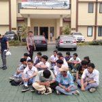 Pelajar STM atau SMK Kota Bogor yang diamankan terkait insiden pengrusakan di Jalan Juanda (adi)
