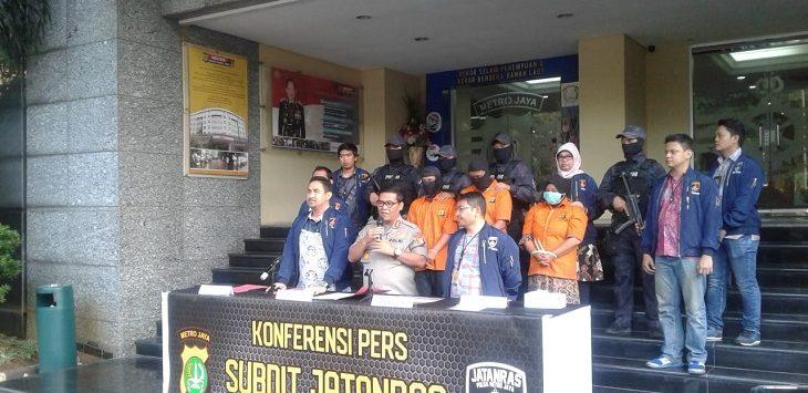 Polda Metro Jaya ungkap kasus pembuhan berujung pembakaran berlokasi di 2 tempat, Jumat (6/9/2019)./Foto: Firdausi