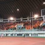 Rusuh di tribun Selatan Stadion Pakansari