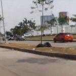 Sampah di sekitar Stadion Pakansari Bogor