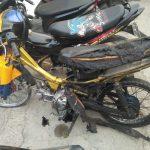 Viral pemuda Cianjur bakar motor sendiri./Foto: Istimewa