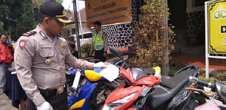 Barang bukti sepeda motor./Foto: Rmol
