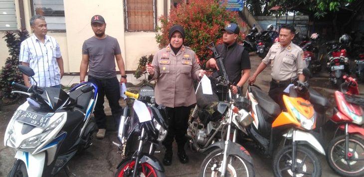Polsek Cidadap ungkap kasus curanmor di Bandung, Rabu (9/10/2019)./Foto: Arief